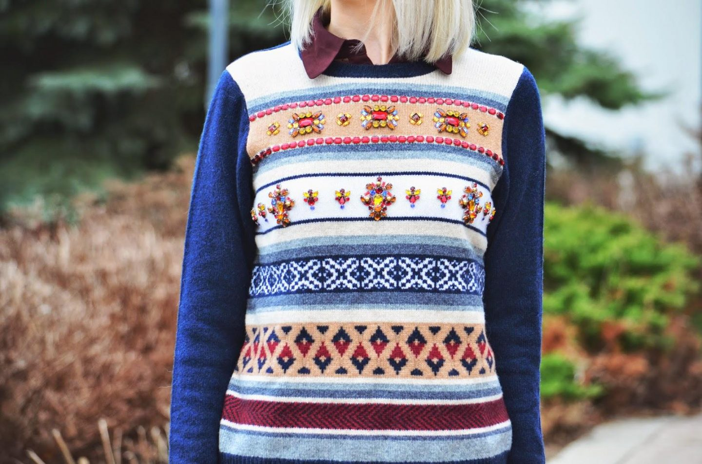 Style, fair isle, sweater, J. Crew, Kate Spade, Kate Spade bag, black and brown, casual Friday, fair isle sweater, fair isle sweater style, jcrew style