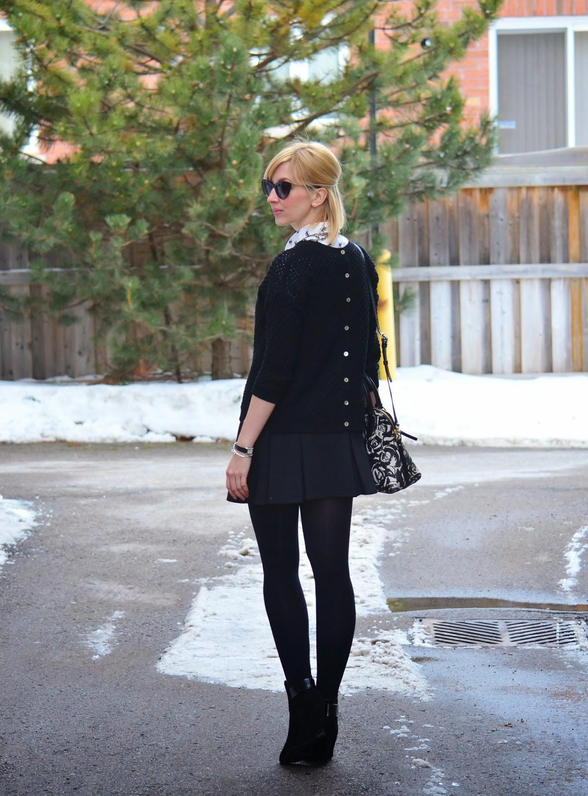 Style, OOTD, preppy, preppy style, black and white, Kate Spade, Zara, forever21, Smart Set, spring style, bow blouse style, bow shirt style, prep