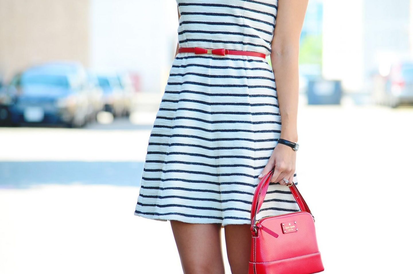 chan.ru imagesize:1440x956 Style, ootd, stripe dress, Striped dress, Joe Fresh, Kate Spade,