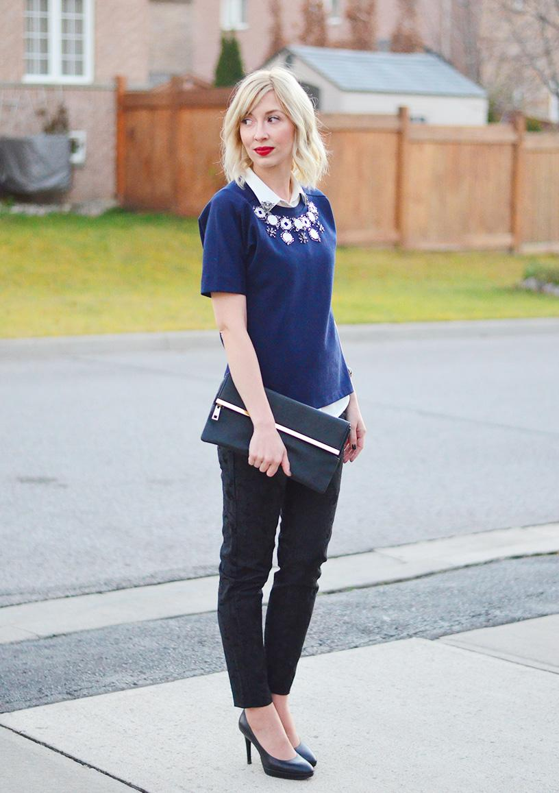 Style, ootd, Fashion, embellished top, preppy style, style blogger, fashion blogger, style canada, toronto blogger,