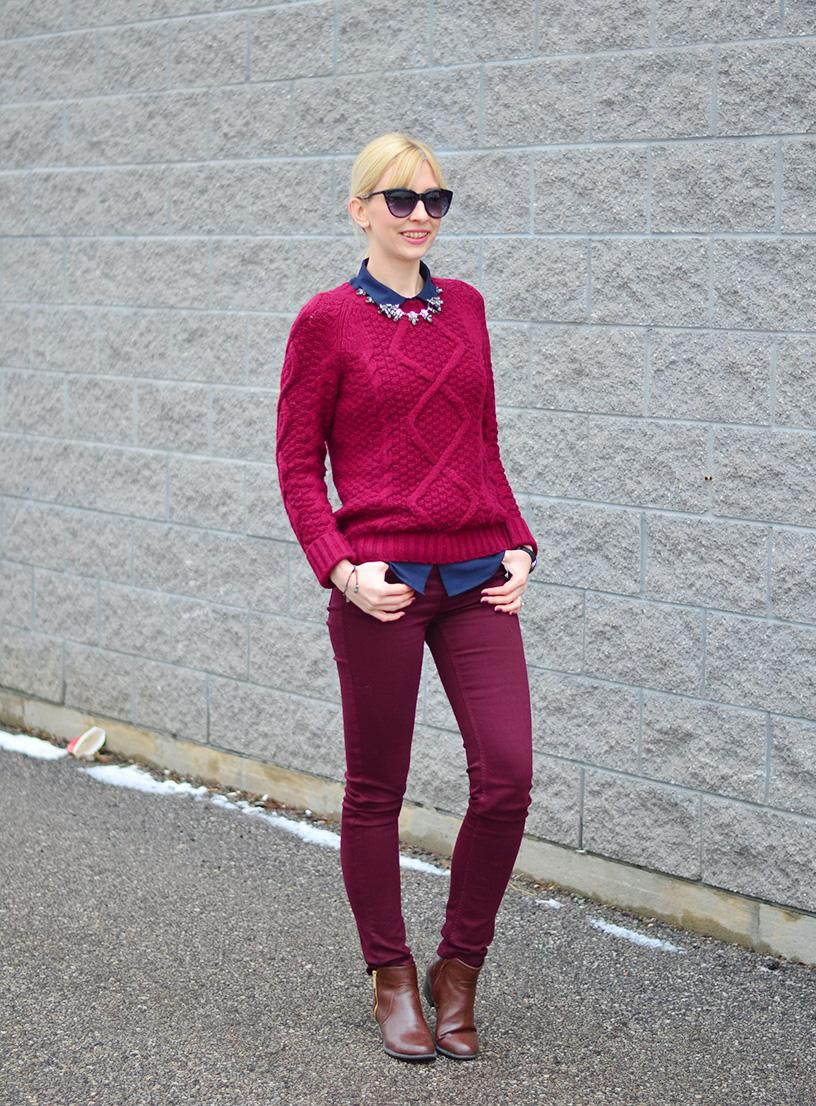 Preppy Style with dark wine u0026 burgundy colors. - Stripes and Vibes