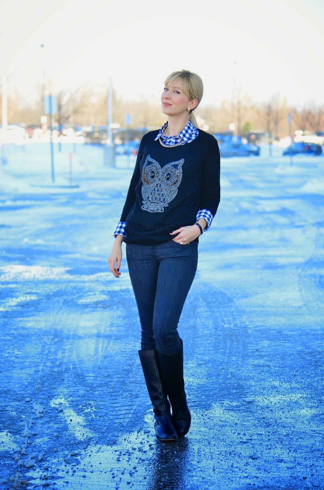 Style, owl sweater, H&M, Zara, J. Crew factory, J. Crew style, J.Crew, office style, casual style, smart casual, office casual, sweater, sweater style
