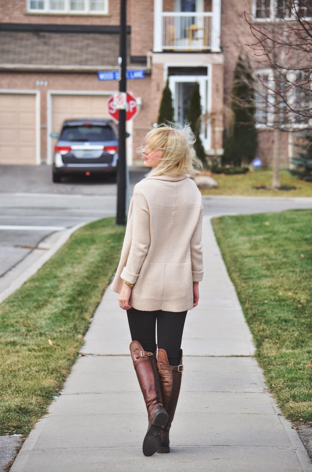 Style, OOTD, Casual, OldNavy, Zara, Vince Camuto, Smart Set, comfy, oversized cardigan, beige cardigan, cardigan style