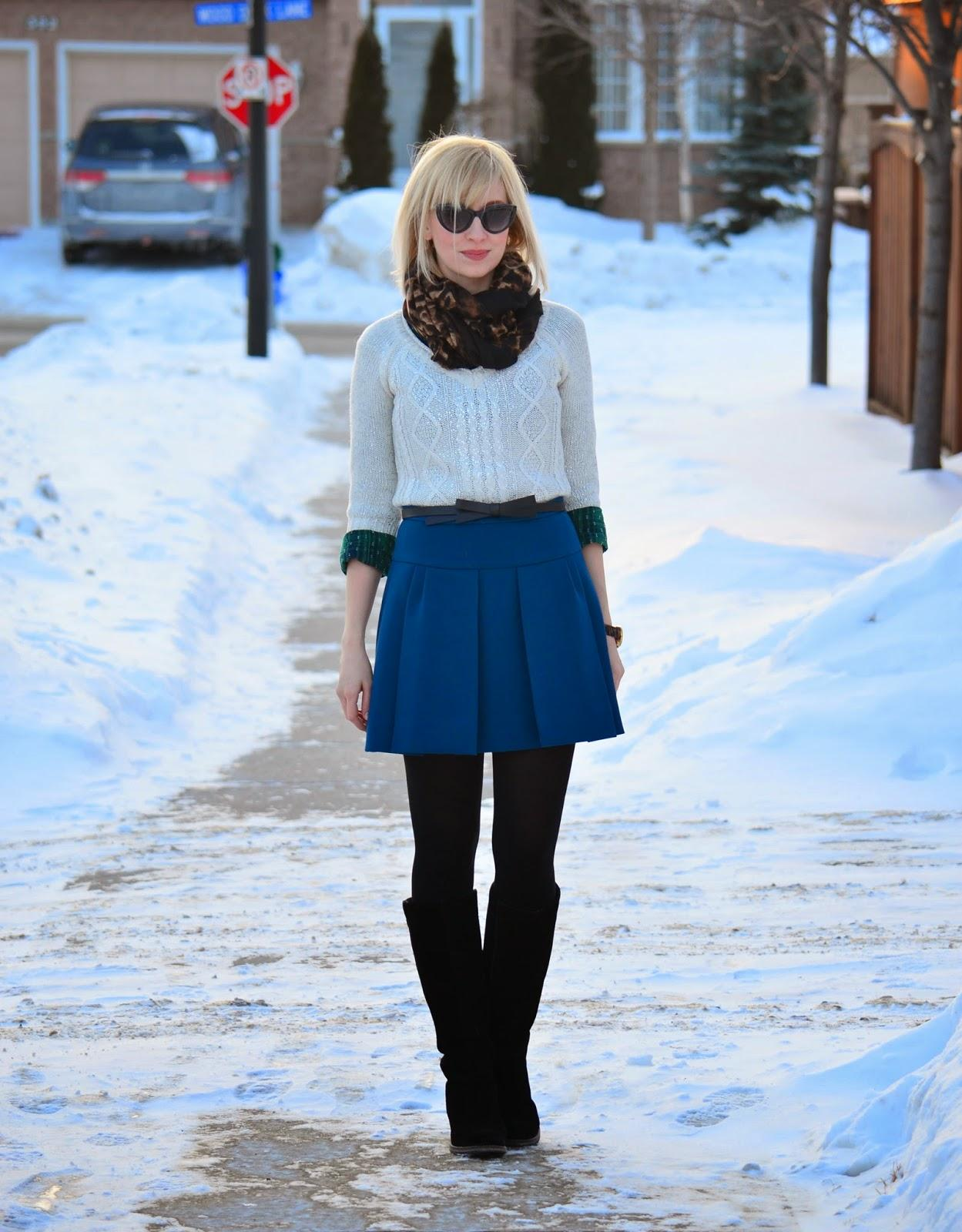 Style, OOTD, preppy, preppy style, smart casual, pleated skirt, skirt style, J. Crew, Kate Spade, Asos, Target, leopard scarf, bow, skirt style, jcrew style, preppy, pleated skirt style