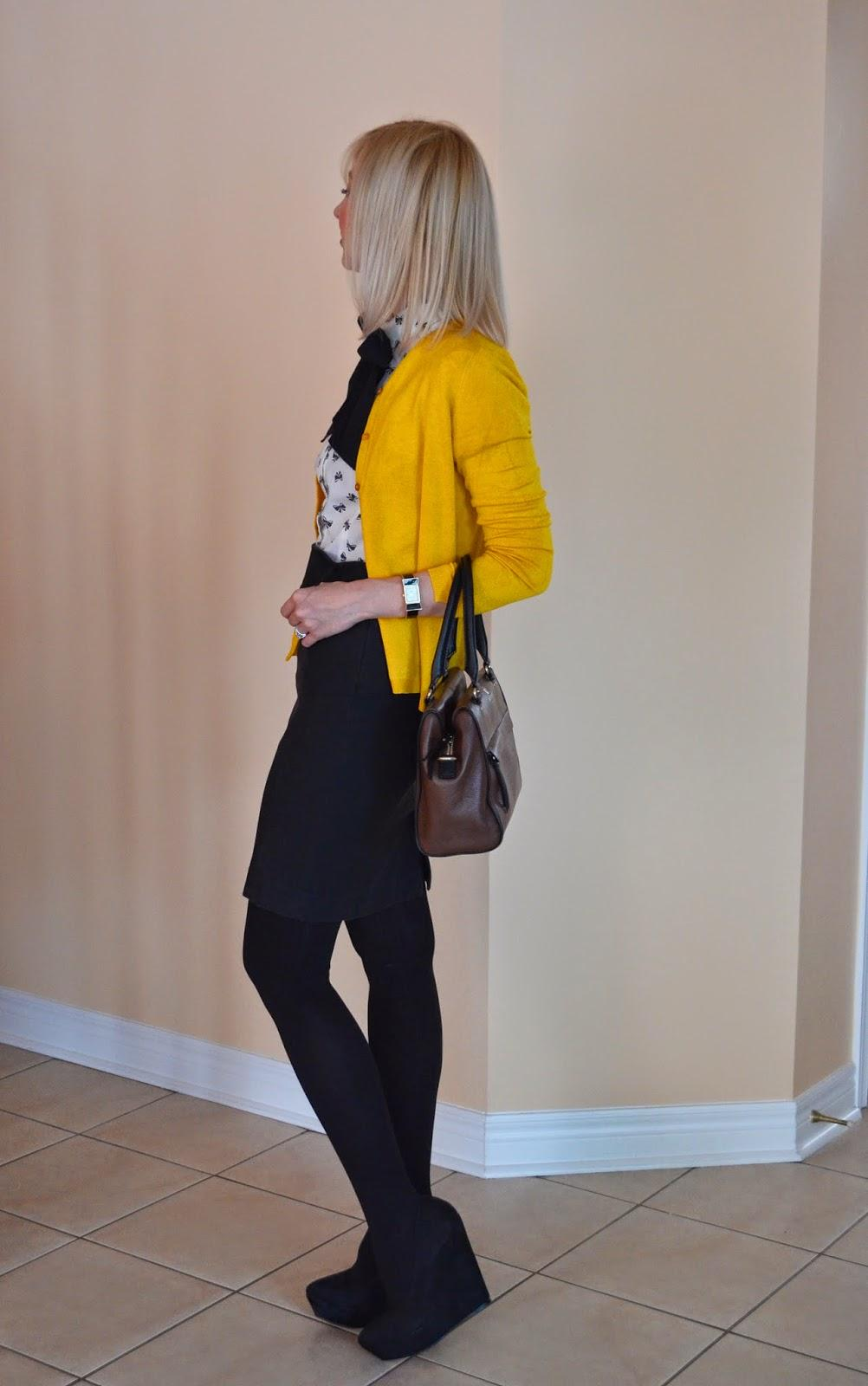 Style, OOTD, bow outfit, bow watch, office style, office wear, Kate Spade, Zara, mango, asos, Benevolent Jewels, bow blouse, bow top, mustard cardigan, yellow cardigan