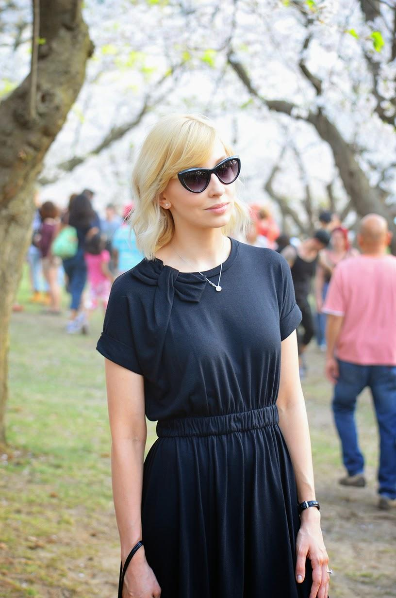 Style, ootd, 60s style dress, dress style, flare dress, Kate Spade, J. Crew factory, J. Crew style, cat eye sunglasses, kate spade dress, bow dress, bow dress style