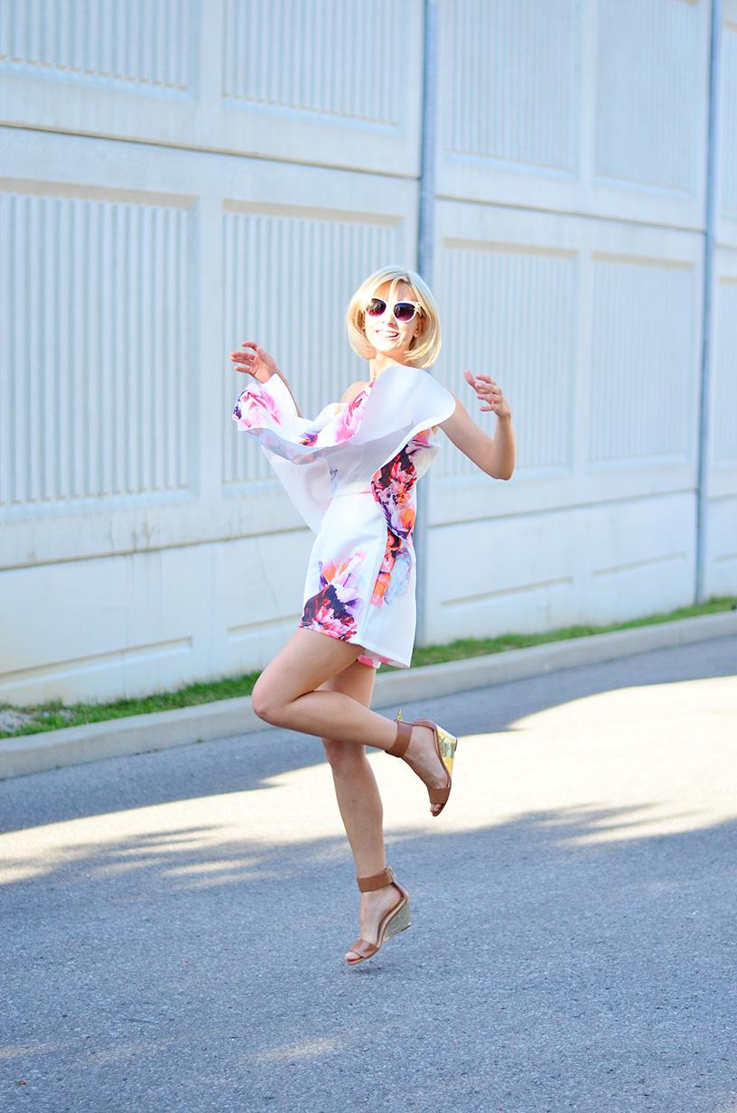 Style, OOTD, Jumpsuit, Romwe, Romper, floral print, summer style,