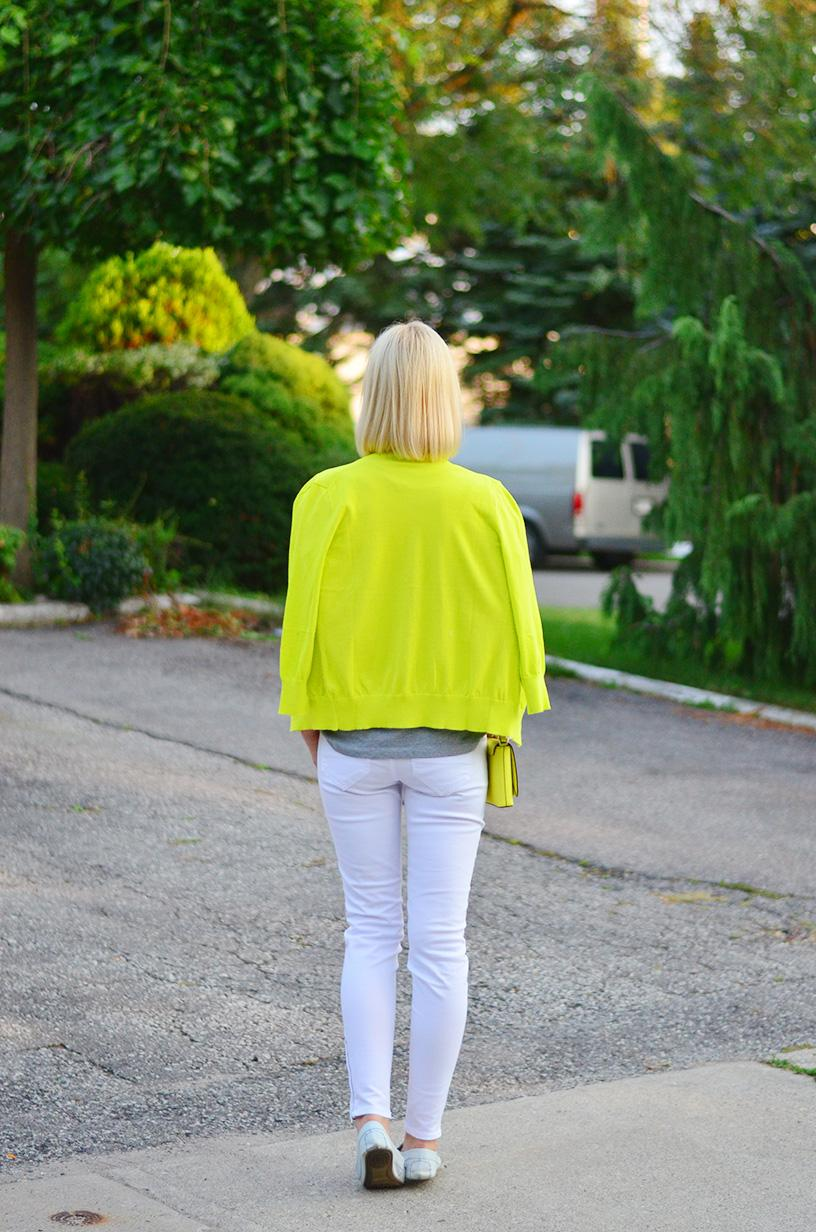 Ootd, Style, J. Crew, J. Crew style, Zara, Gap, Kate Spade, Tiffany and co, Asos, neon, white jeans