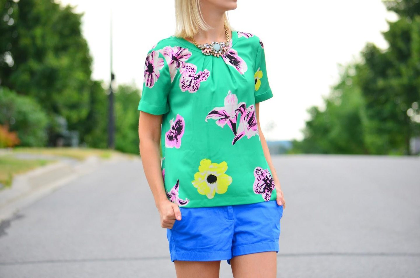 b86a124b754 Casual Style with Flower Print Top