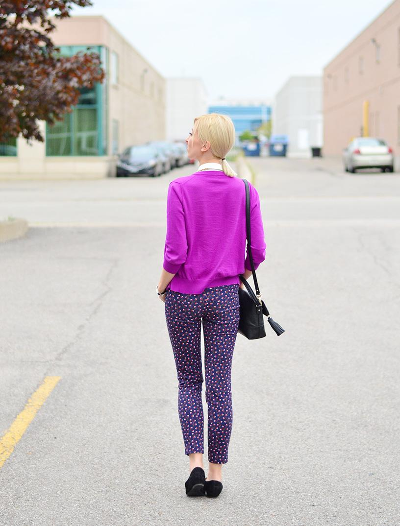 style, ootd, office style, office wear, j. crew style, printed pants, preppy, preppy style, Clarks, fashion, fashion blogger, style blogger,