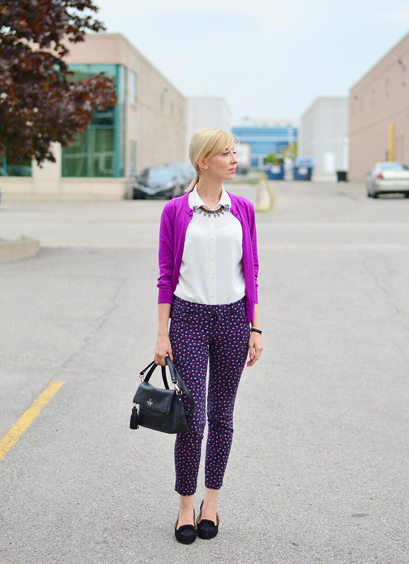c9a6d3983d5 Adding Fun to Work Wear  Printed Pants Style.