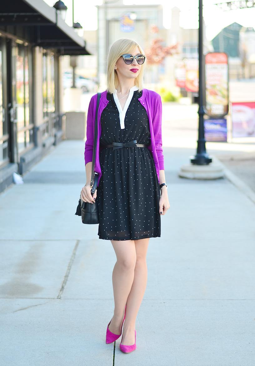 style, fashion, ootd, preppy, preppy style, bright colors, polka dot, dress, dress style, style blogger, fashion blogger, fashionista,