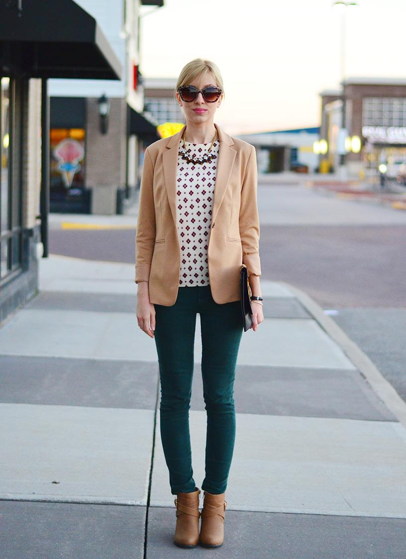 Style, ootd, Fashion, preppy, preppy style, office style, corduroy pants, leopard accents,