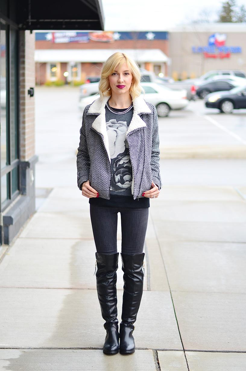 style, ootd, fashion, tweed jacket, otk boots, style blogger, fashion blogger, canadian blogger, toronto blogger, fashionista
