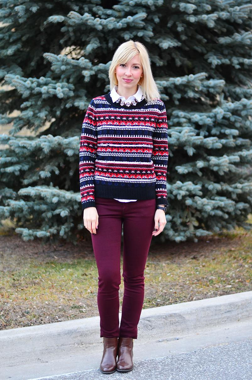 style, fashion, ootd, fair isle, sweater, winter style, winter fashion, Christmas outfit, style blogger, fashion blogger, toronto blogger, canadian blogger,