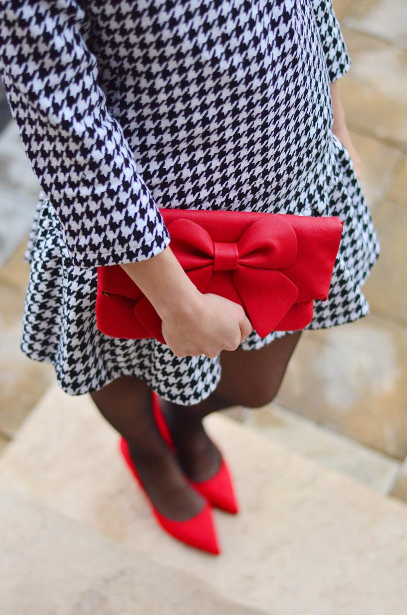 Fashion, style, Houndstooth, preppy, ootd, style blogger, fashion blogger, red shoes,