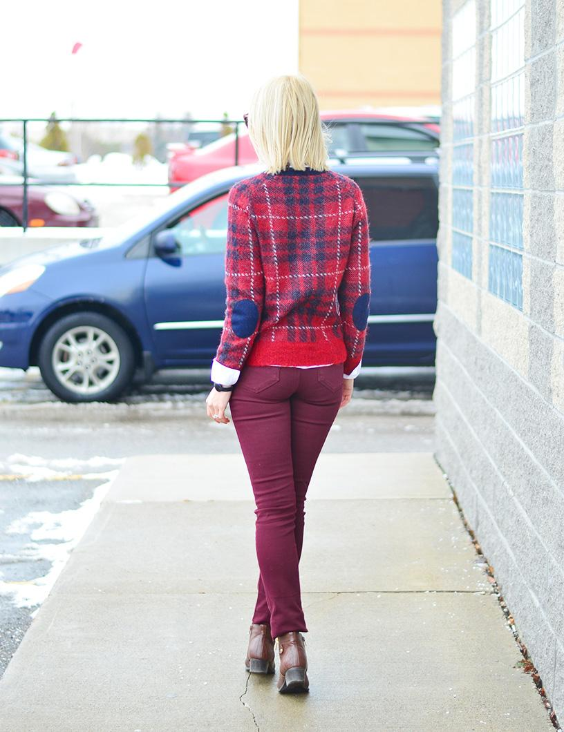 plaid sweater office style