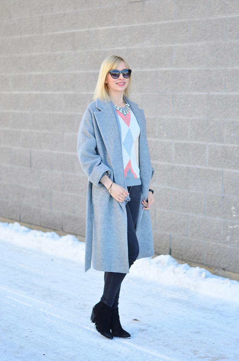 long wool coat style