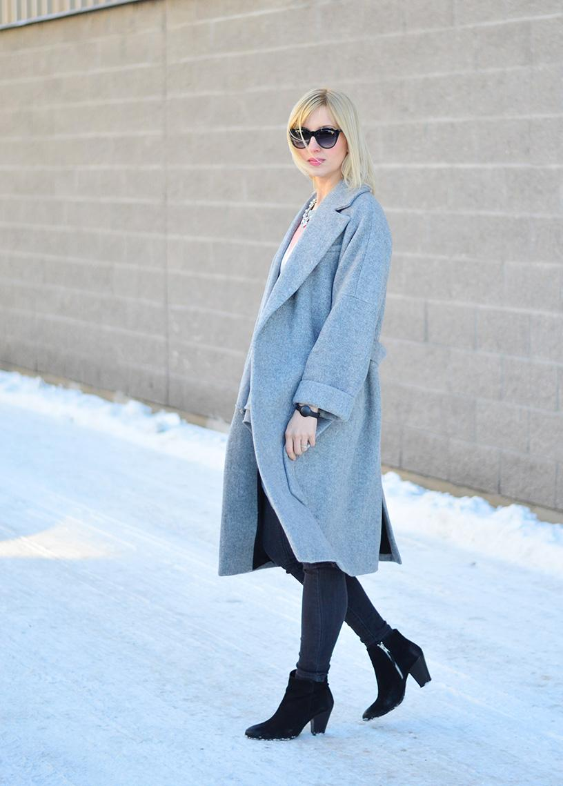 grey wool wrap coat
