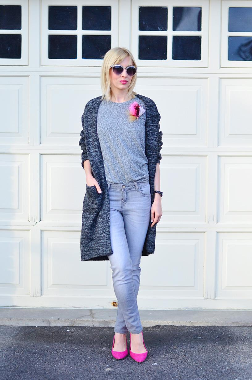 knitted cardigan style