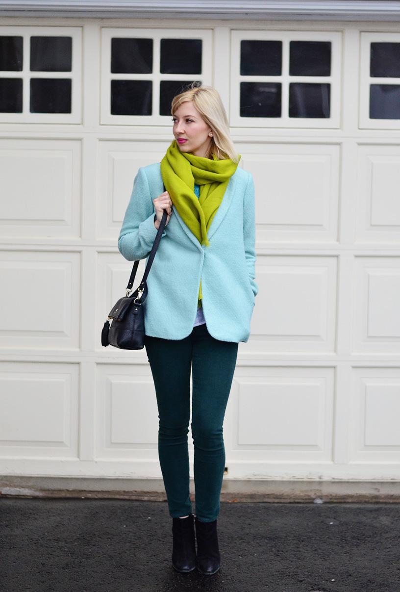 mint green and turquise style