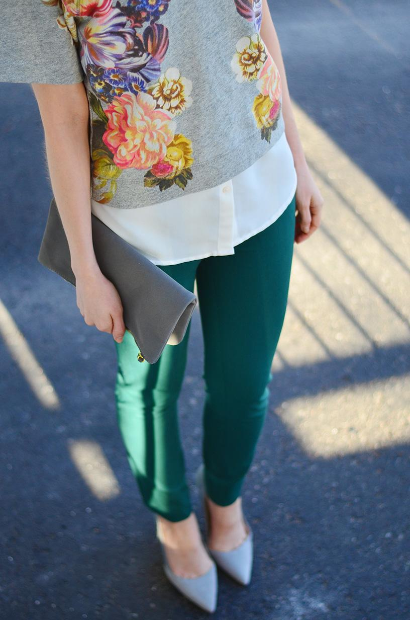 green pants spring style