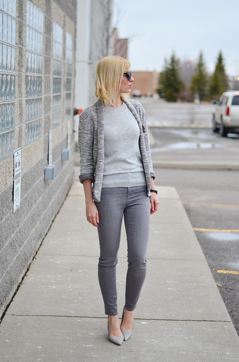 grey style & leather shoes