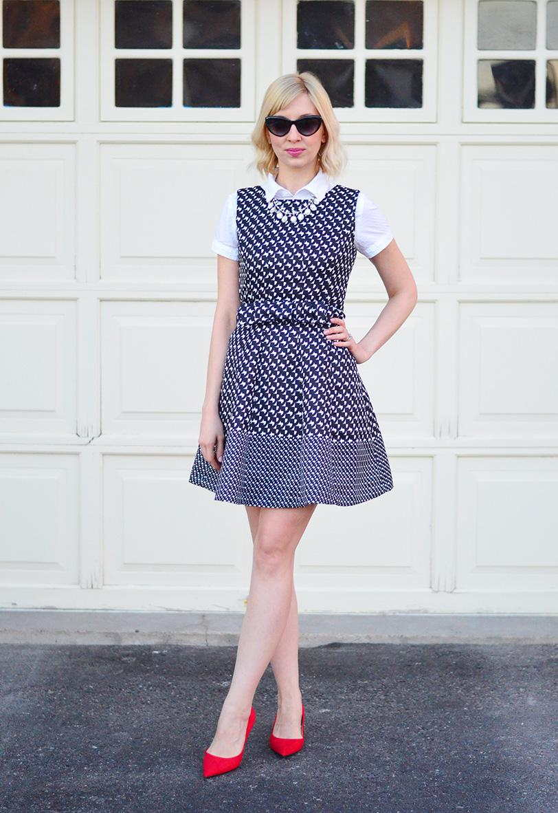houndstooth dress style