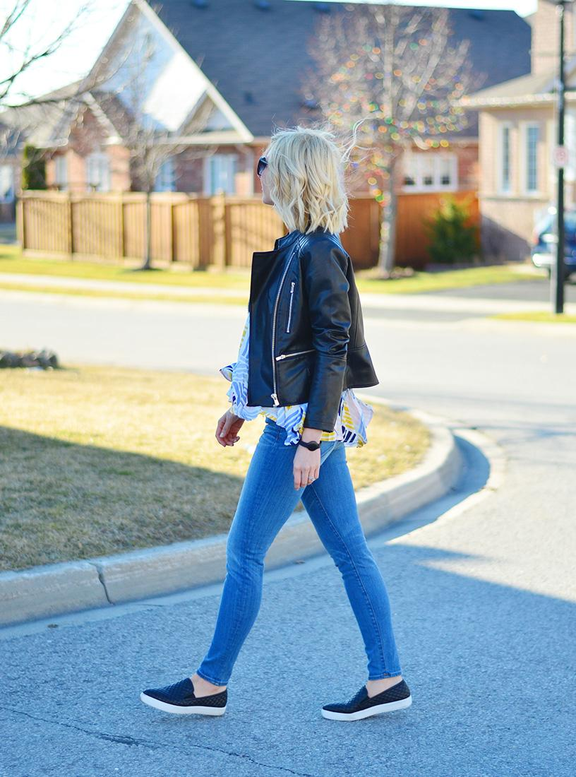 pointed sneakers & jeans
