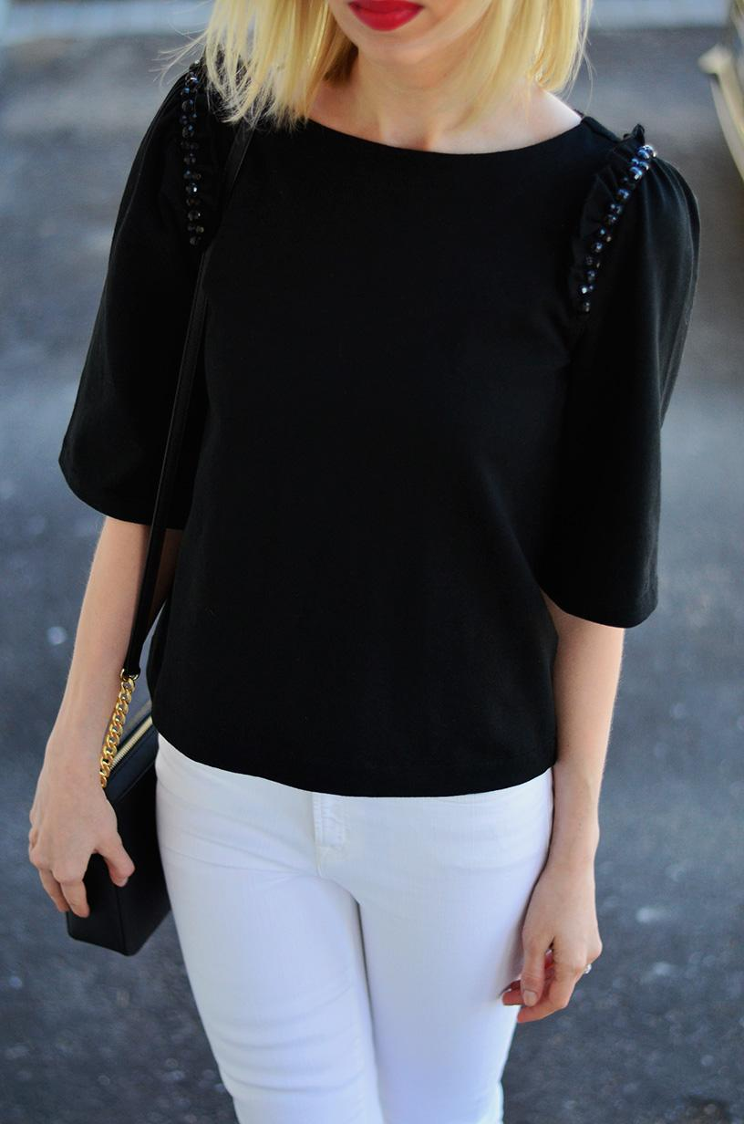 beaded top with frills