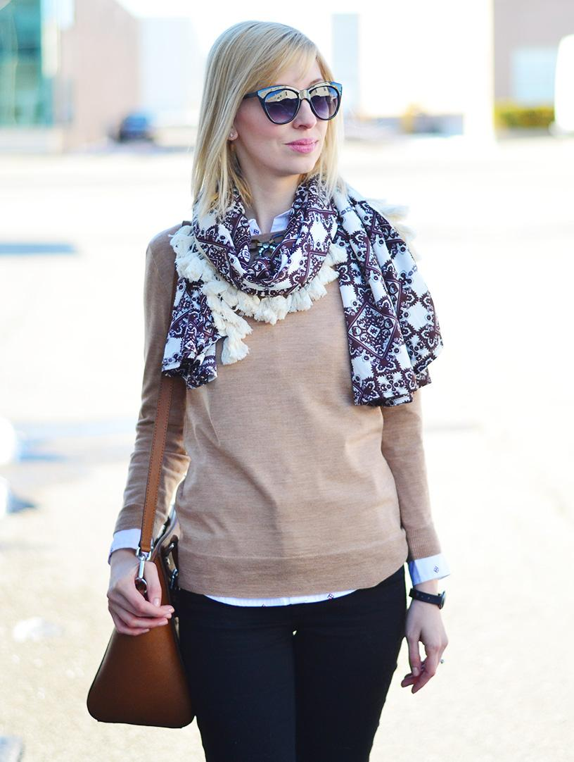 camel sweater style
