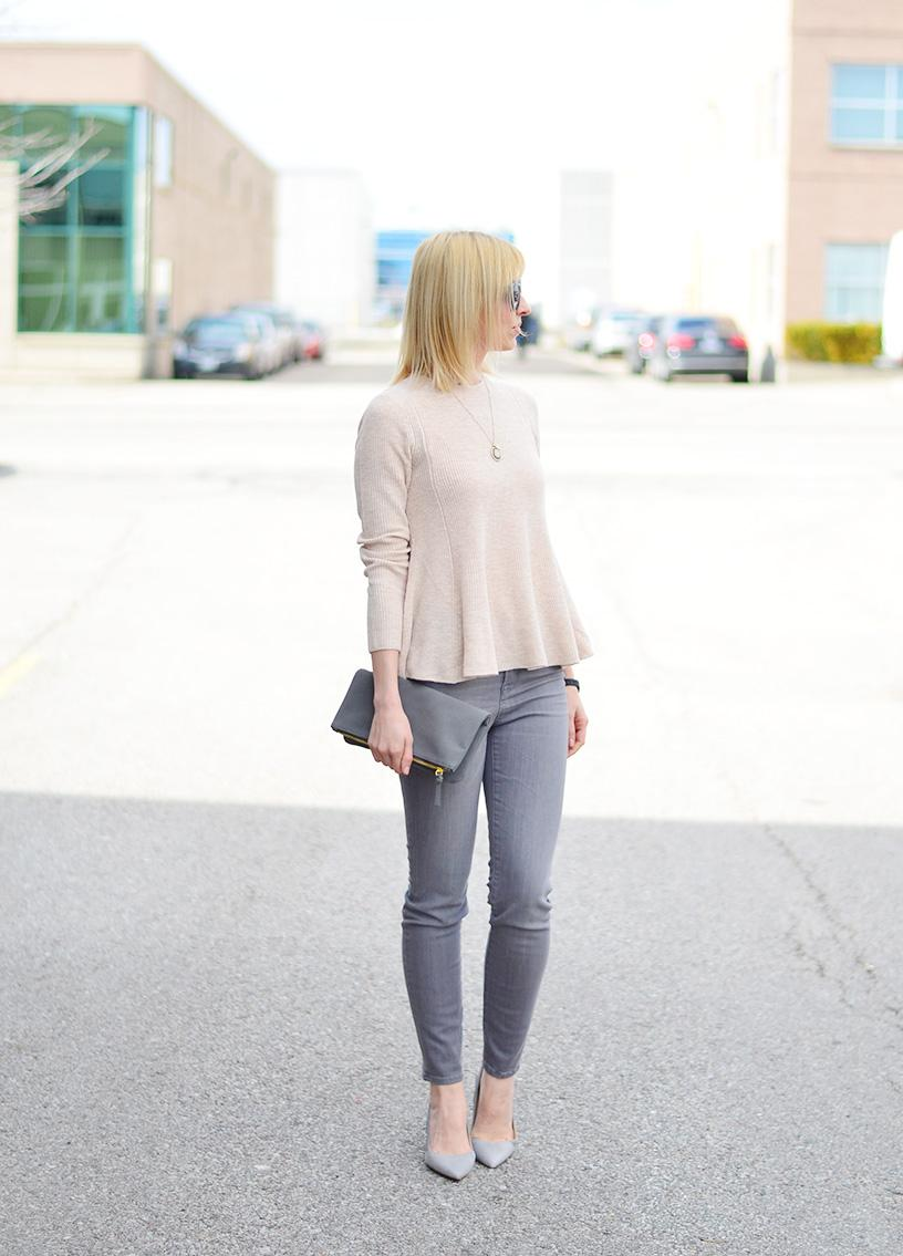 blush pink & grey colors style